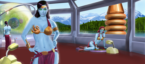 Updated Syreen Homeworld by dczanik