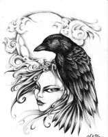 crow by XSkullflowerX