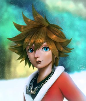 SORA - Kingdom Hearts (Commission) by andicahyow