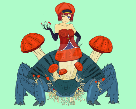 Ophelia the Cordyceps Fungus Monster Girl by The-Episiarch