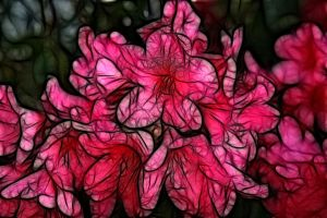 Stained Glass Flower 3 by Moonchilde-Stock