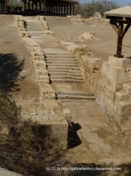 Chapel of the River Jordan. Steps Leading to River by gabriellestory