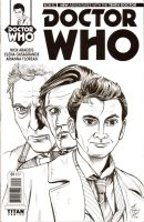 DOCTOR WHO 10th Doctor SKETCH COVER by DocRedfield