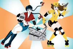 Roller Derby poster by remdesigns