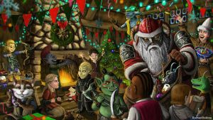 Christmas in Tamriel by RomanDubina
