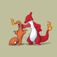 Charmander and Charmeleon by Eligecos