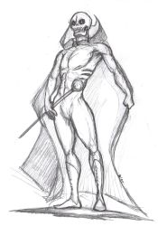 Oogon Batto Pose Study Sketch by OcioProduction