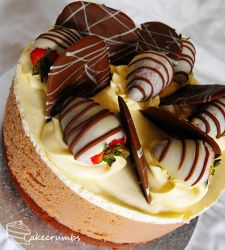 Chocolate Mousse Profiterole Cake by cakecrumbs