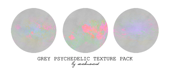 Grey Psychedelic Texture Pack by SarahMenard