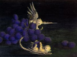 Tiger Songgryphons With Grapes by songgryphon