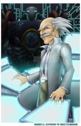 Dr. Wily and Gamma by seraphimon83