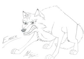 Ember the wolf by MortenEng21