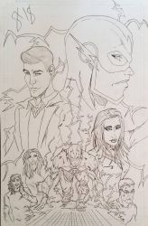 The Flash WIP inks by andyosu20