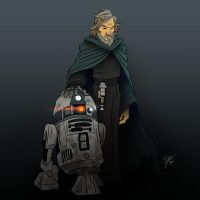 Luke and R2D2 by mateusboga