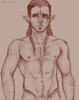 Character sketch : Skoll or Kaelin by OliverTheGhostBoy