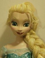 Elsa Doll from Frozen  Repaint by paintingbyjackie