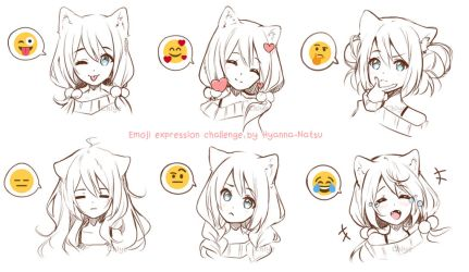 [+Video] Original - Emoji Expression Challenge by Hyanna-Natsu