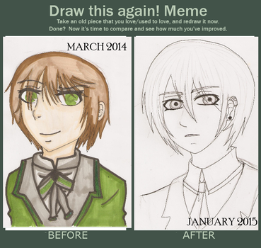 Meme  Before And After~ Black Butler OC by ECookie