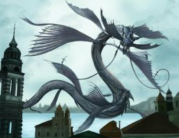 Final Fantasy XV - Leviathan (The Hydrean) Tsunami by SoulStryder210