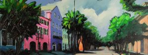 Charleston's Rainbow Row by LS-1302