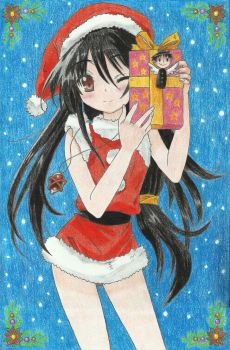 Shana Black Hair (Merry Christmas) by Xtremist22