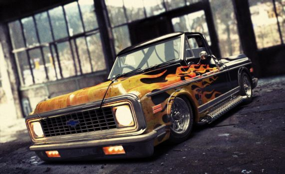1972 chevy c10  2 by xtrm3d