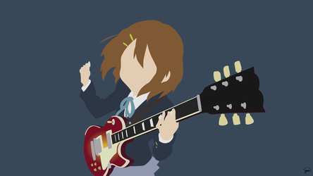 Yui Hirasawa (K-On!) Minimalist Wallpaper by greenmapple17