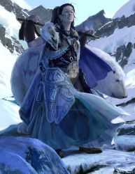 Arctic Princess and Companion Character Concept by mkmatsumoto