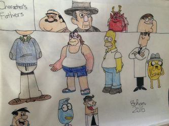Cartoon Fathers by Pichu8boy2Arts
