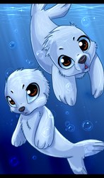 Seal pups by Ash-Dragon-wolf