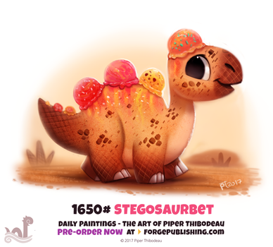 Daily Painting 1650# - Stegosaurbet by Cryptid-Creations