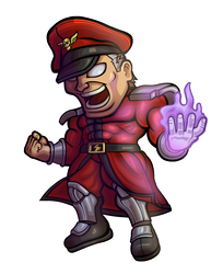 Street Fighter V - M. Bison Chibi by fastg35