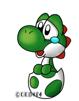 Sad Baby Yoshi- Colored by KiKiD484