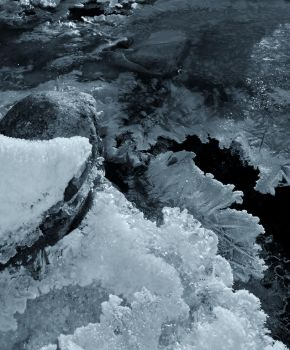 Frozen River by Eagle-Photography