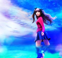 Rin Tohsaka: Against the blue by kuricurry