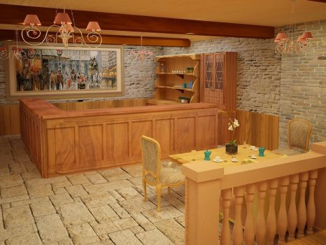 French Style coffee shop 02 by Linaerlight