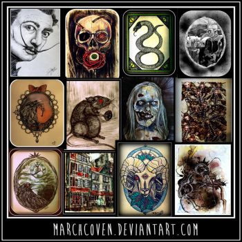 some of my artwork by MarchCoven