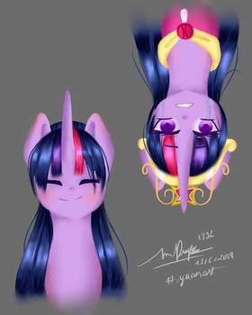 [ A R T G A M E ] Two shades of Twilight Sparkle by Cloudy-Risicpaint