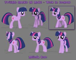 Twilight Sparkle in 3d by Rivenchan