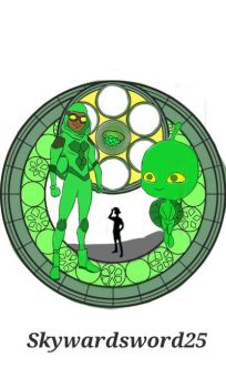 Carapace stain glass by Skywardsword25
