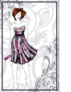 Dress Presentation sketch by Jivka