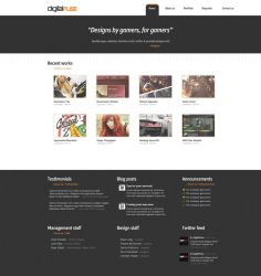 Digital Fuse Webpage by KustomzGraphics