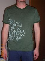 Hand-painted t-shirt_front vie by Drifter22