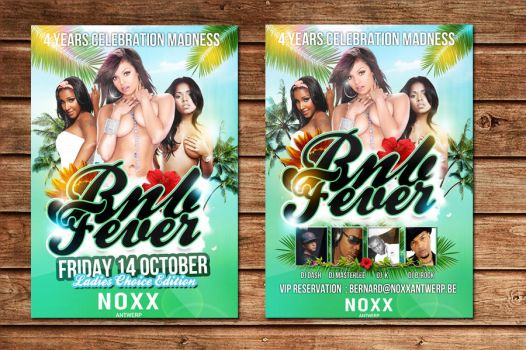 flyer party rnb fever at noxx by Adriano09