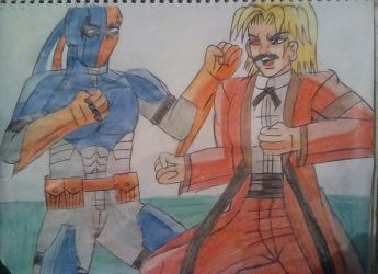 Rugal Bernstein vs Deathstroke by carlos1976