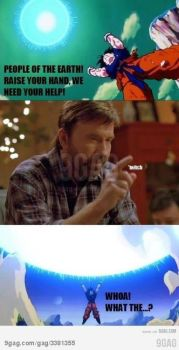 Chuck Norris give goku his power by gamerma