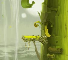 Rayman Legends Swamp Study by Cyberworm360