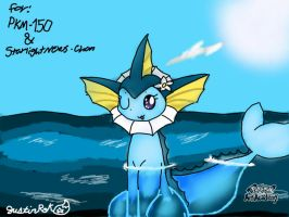 The Vaporeon of the sea (GIFT) by JustinRoKStar