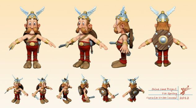 Little Gaul 3d by HecM