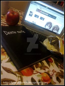 I'll take a potato chip and EAT IT! Death Note by BrendaBirkin